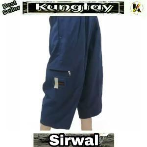 Sirwal Size Super Big Jumbo Blue Navy Pangsi Ukuran Warna Biru Dongker Celana Cingkrang Panjang Pendek Pria KJK113