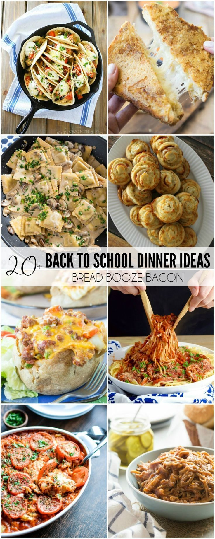 "Never dread hearing, ""What's for dinner?"" again! These 20+ Back to School Dinner…"