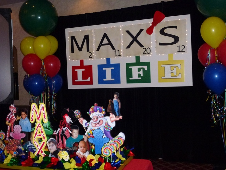 candle lighting ideas. candy land candle lighting centerpiece in front of a large gamethemed dj sign at ideas