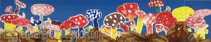Tekenen en zo: Als paddenstoelen uit de grond schieten ...