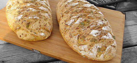 Brød med græskar eller alternativt pulp fra juiceren