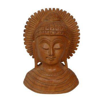 Amazon.com: Religious Buddha Wooden Bust Figurine Art Decor: Home & Kitchen