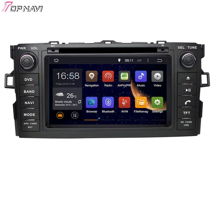 Free Shipping Quad Core Android 5.1 Car Radio GPS For TOYOTA AURIS/COROLLA HATCHBACK/COROLLA 2012- With Stereo Video 16 GB Flash