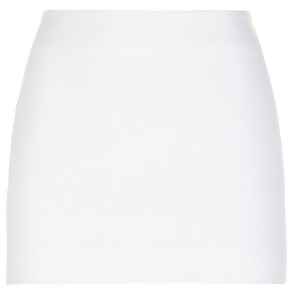La Perla Essentials BiStretch Cool Wool Mini Skirt ($418) ❤ liked on Polyvore featuring skirts, mini skirts, short, white, short mini skirts, white wool skirt, la perla skirt and lined skirt