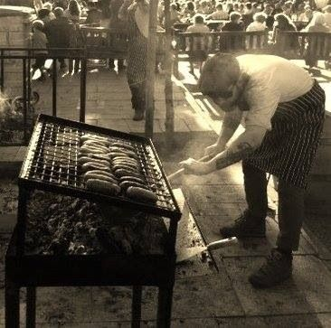 Big G on our Argentine bbq at Ilkley summer festival.