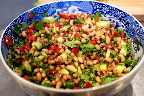 This is listed on Pioneer Woman's website as salsa, but I think of it more as a bean salad. I have eaten it both ways. And I love it no matter how it is consumed! One of my go-to recipes for summer cookouts.