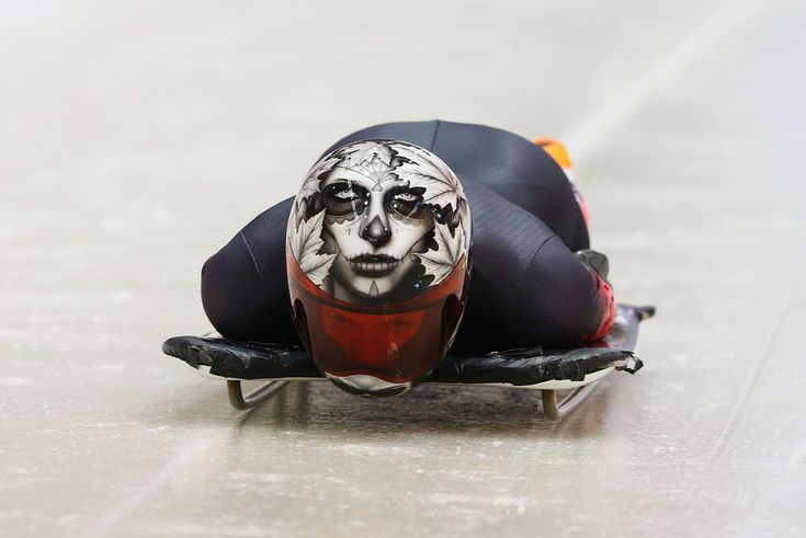 Sarah Reid of Canada on Day 1 at the Sanki Sliding Center on February 8th, 2014 by Alex Livesey/ Getty Images