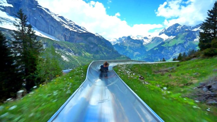 Mountain Coaster in Switzerland that I got to ride a few times at the end of my 2013 mission trip. I had no intention of this going viral so chill on the mus...