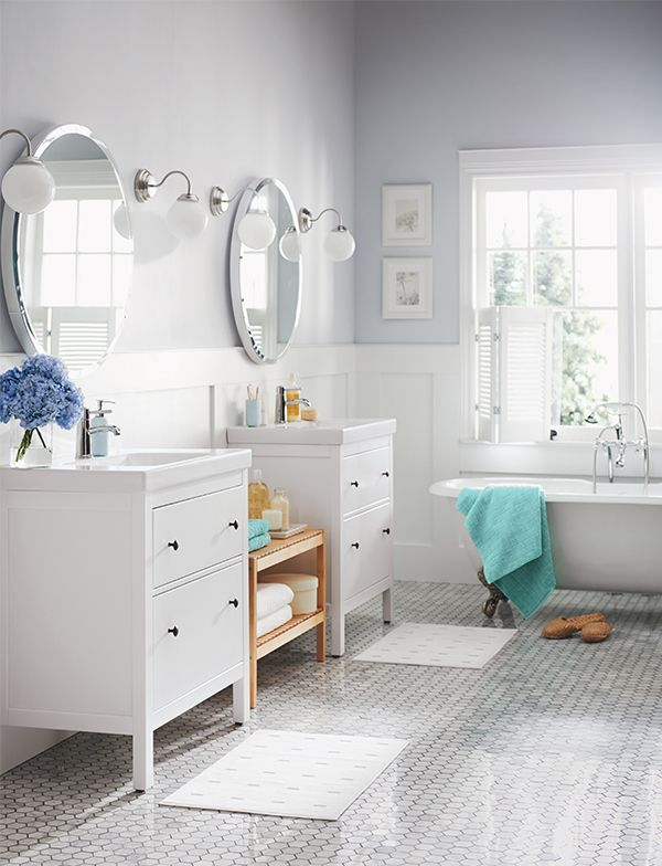 create shareable bathroom twin vanities hemnes vanity review ikea installation plumbing