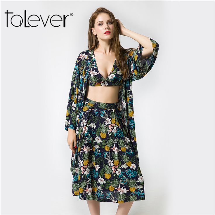 2017 Talever Floral Print Blouse Boho Elegant Women Tops Autumn Long Sleeve Pineapple Print Shirt Plus Size Womens Clothing  #Affiliate