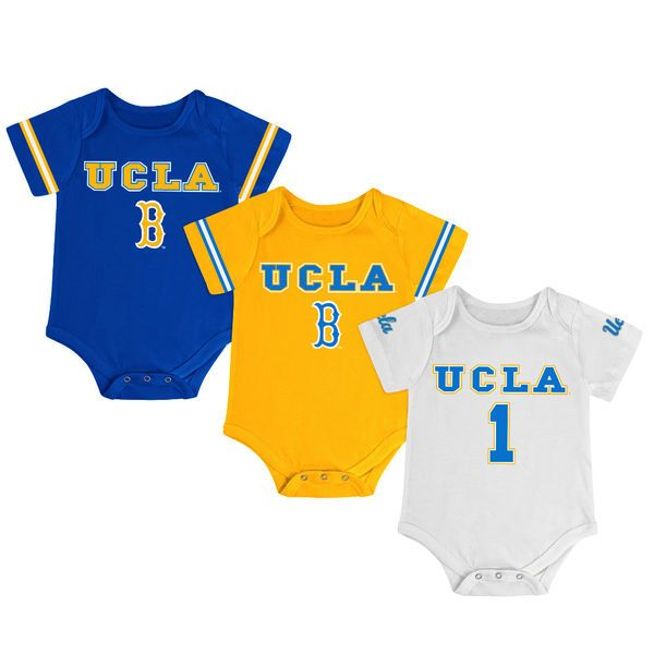 UCLA Bruins Colosseum Newborn & Infant Game Day 3-Pack Bodysuit Set - Blue/Gold/White - $34.99