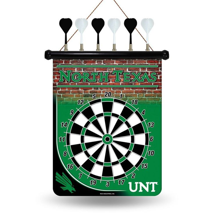 North Texas Mean Green Magnetic Dart Board, Multicolor