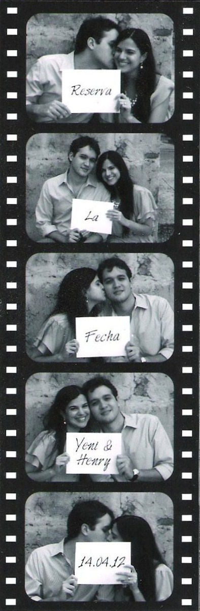 Save the Date Film Strip (In Spanish)