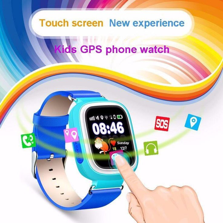 Child GPS Wifi Location Smart Watch SOS Call Touch Screen Device Tracker Anti-Lost Monitor