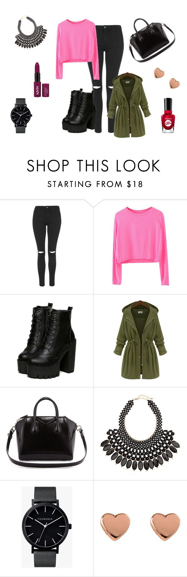 """""""So i think I 'm beautiful today"""" by dagusia112 on Polyvore featuring moda, Topshop, Givenchy, H&M, The Horse, Ted Baker i Sally Hansen"""