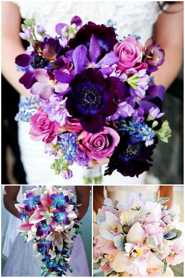 orchid wedding bouquets  for 2016 spring wedding