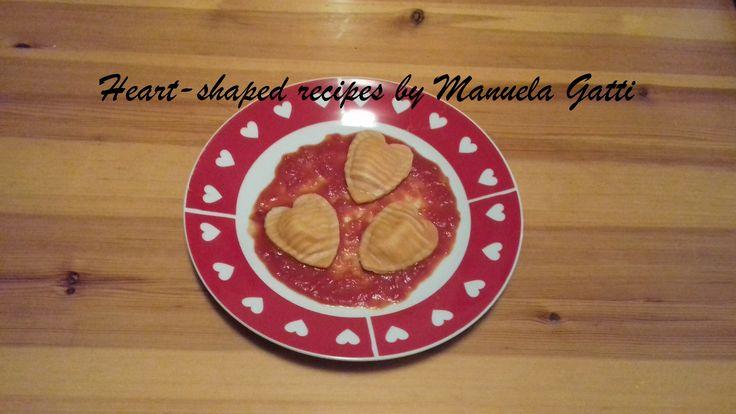 striped heart shaped ravioli