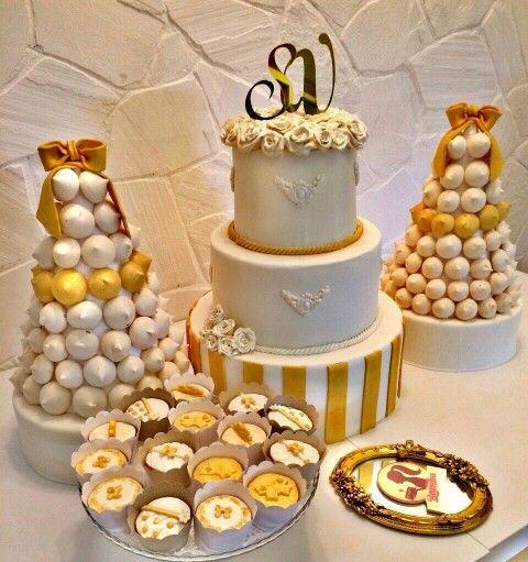 Nişan pastası, beze kulesi, cupcake ☺