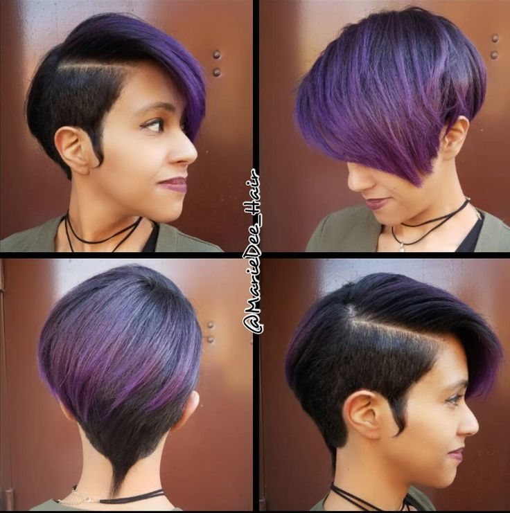 Gorgeous purple pixie @mariedee_hair  Read the article here - http://blackhairinformation.com/hairstyle-gallery/gorgeous-purple-pixie-mariedee_hair/