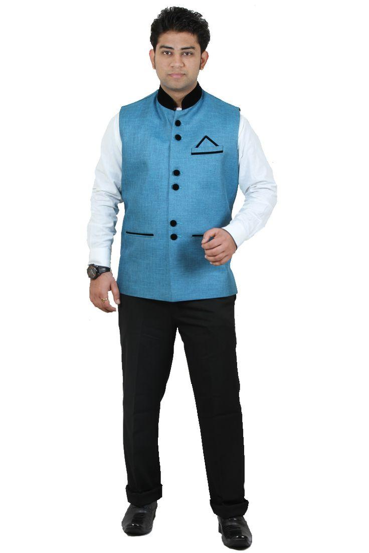http://tinyurl.com/o7lvm2q Buy Online Expensive RAI SAHAB Firozi Polyester Modi Jackets at GetAbhi.com