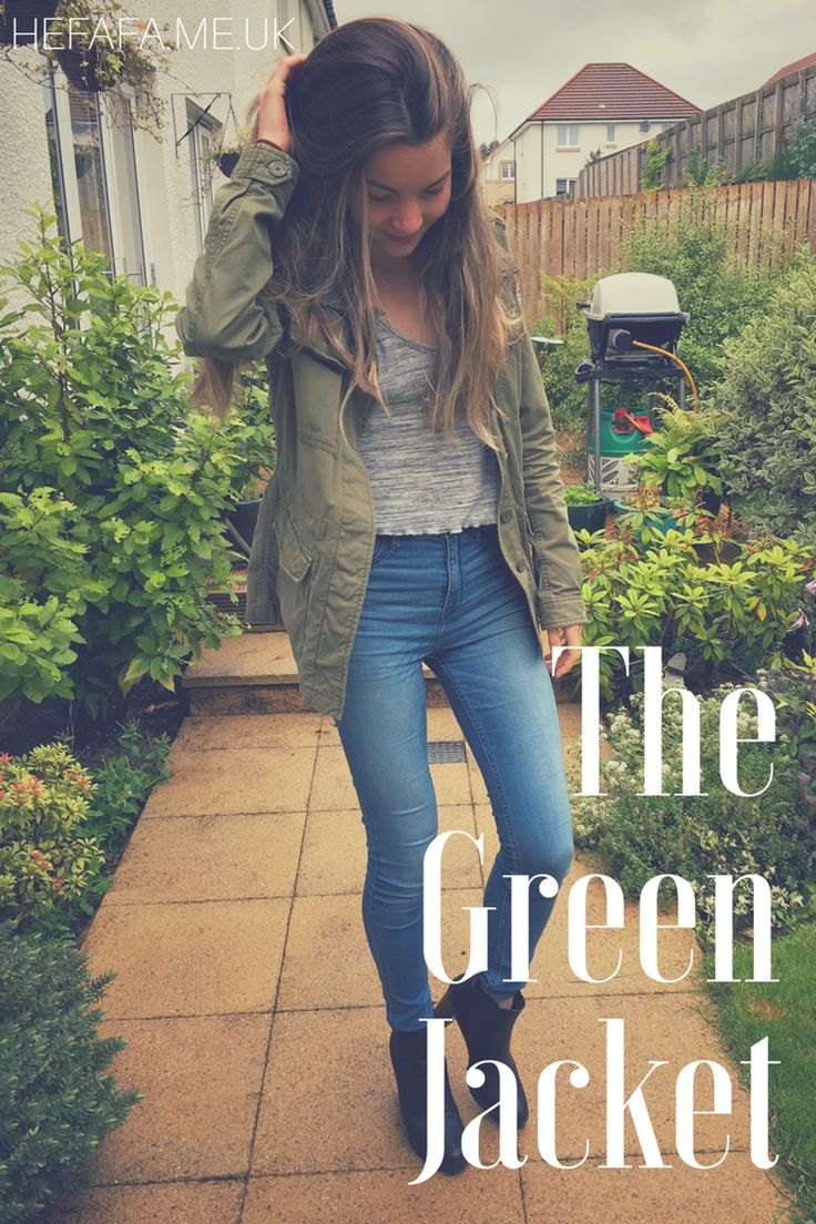 The Green Jacket - Heather Rowland on hefafa.me.uk   Favourite outfit for the pre-autumn time of year = green jacket and black boot heels. And I still can't decide when autumn actually begins...  Published 23rd August 2017