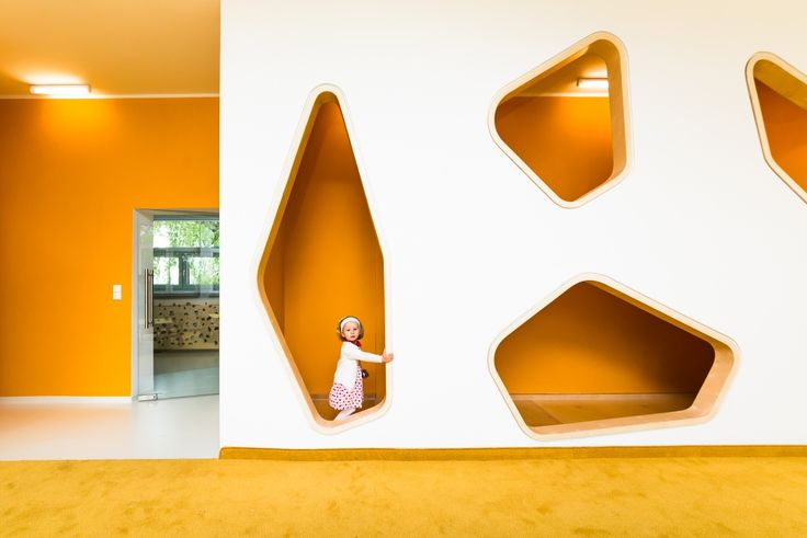 COLORFUL KINDERGARTEN IN OPOLE, POLAND Chrościce, a small town in Poland, promotes innovative interior design with its new local kindergarten designed by PORT architecture studio. www.thefacedesign.com