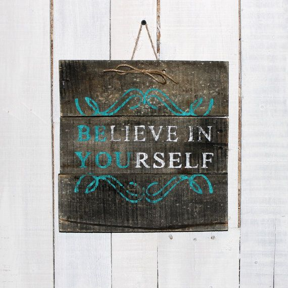 Rustic Reclaimed Pallet Sign  Hand Painted by EverydayCreationsJen