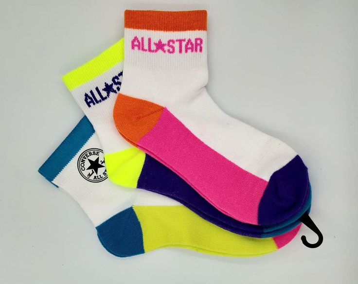 Converse Socks Hi Top Liners Made for Chucks Ladies Womens Girls Sizes 2-5, 6-8