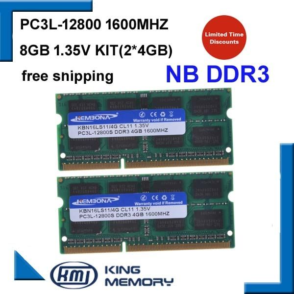 43.02$  Buy here - http://alisir.shopchina.info/go.php?t=32637132994 - brand new Laptop Memoria RAM DDR3 8GB KIT(2*4GB)12800S  PC3L 1.35V LOW POWER 1600MHz 204-pin SODIMM Lifetime Warranty  #magazineonlinewebsite