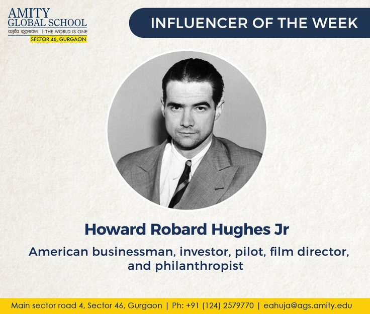 Howard Robard Hughes Jr. was an American businessman, investor, pilot, film director, and philanthropist, known during his lifetime as one of the most financially successful individuals in the world. He first made a name for himself as a film producer, and then became an influential figure in the aviation industry. Later in life, he became known for his eccentric behavior and reclusive lifestyle, oddities that were caused in part by a worsening obsessive–compulsive disorder (OCD) and chronic…