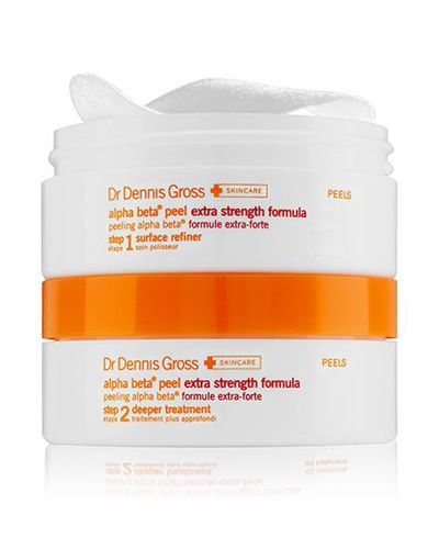 """A one-two punch of exfoliating and balancing ingredients that refresh and resurface skin with a few tiny """"wax on, wax off"""" motions.  Dr. Dennis Gross Skincare Alpha Beta Peel Extra Strength Daily Peel, $16, sephora.com."""