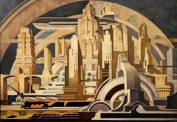 "Tullio Crali - ""Cityscape"", 1939"