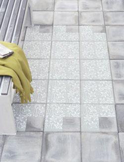 Met betonverf maak je binnen een paar uur een opvallend vloerkleed van je saaie stoeptegels: 101woonideeen.nl/zelfmaken/tegeltapijt.html