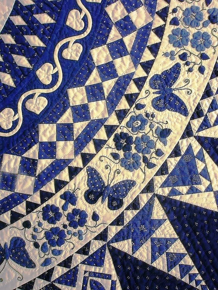 34 best Delph Blue Quilts for Mom images on Pinterest | White ... : blue white quilt patterns - Adamdwight.com