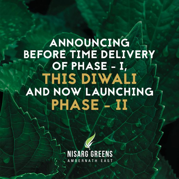 Announcing before time delivery of Phase - I, This Diwali and now launching Phase - II To know more log on to: http://www.nisarggroup.com/greens/ Or you can call on: 08655 787878   SMS 'GREENS' to 56161 #realestate #residential #property #homes #residences #nature #greens #ecoluxury