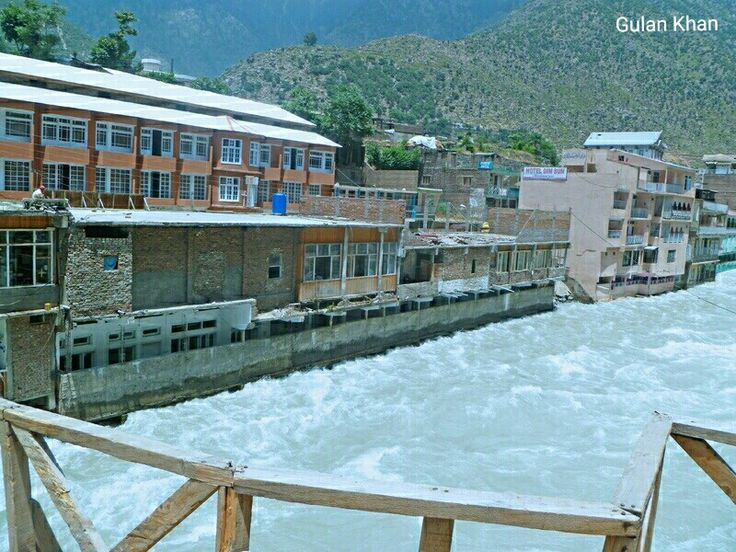 Beauty of Swat river at beautiful Bahrain city Swat valley Khyber Pakhtunkhwa Pakistan