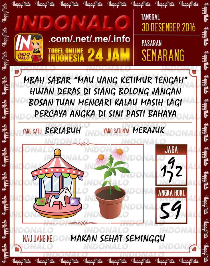 Kode Lotre 3D Togel Wap Online Live Draw 4D Indonalo Semarang 30 Desember 2016