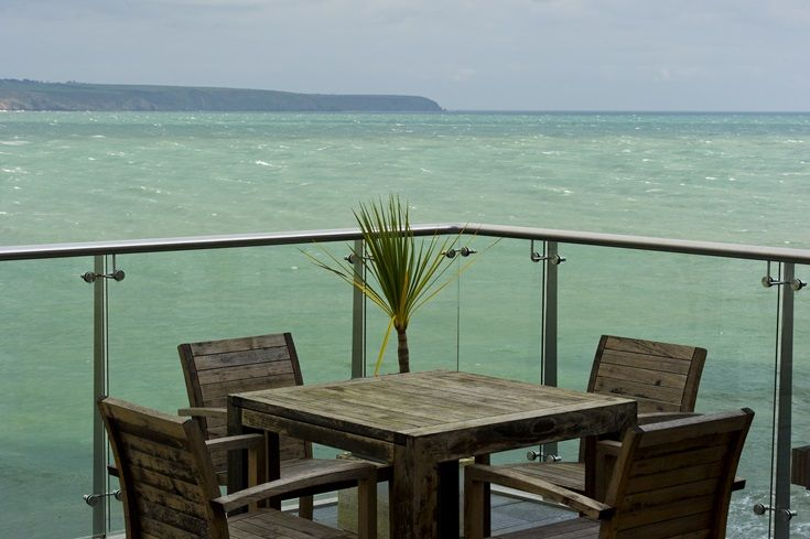 Outdoor seating area allowing you to enjoy the sea view even more.