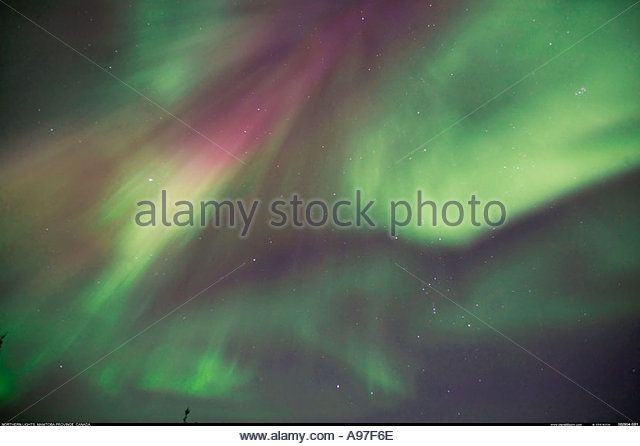 Northern Lights Canada - Stock Image