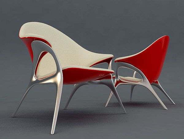 Retro Lounge Chair design by Velichko Velikov