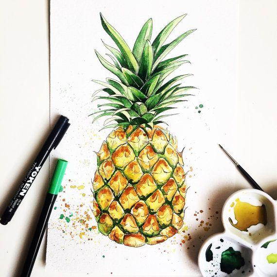 Pineapple by Artnocte on Etsy