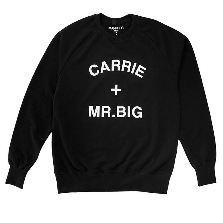 CARRIE + MR.BIG sweat black via MANNERS Apparel. Click on the image to see more!