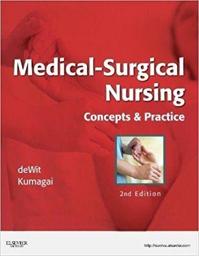 medical surgical nursing dewitt 5th test bank