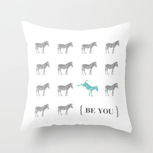 Be You - Zebra Print Throw Pillow