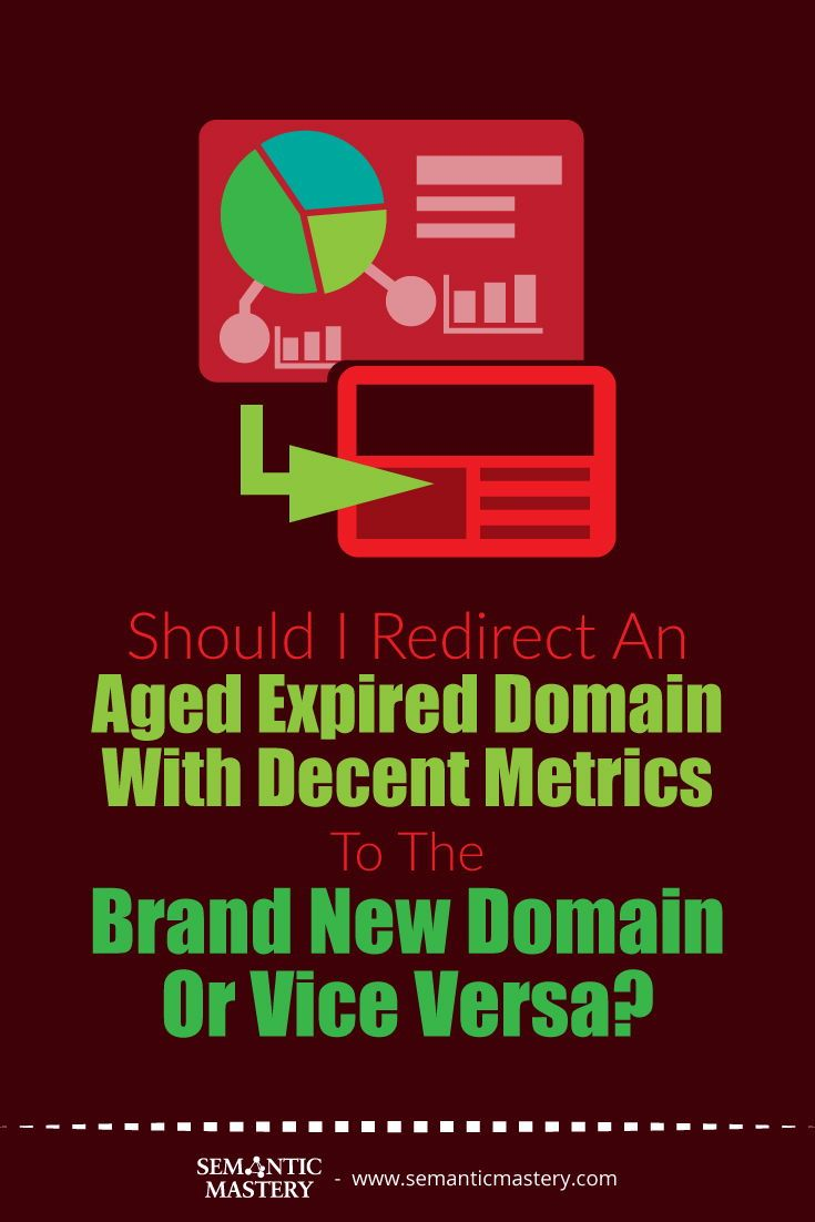 Should I Redirect An Aged Expired Domain With Decent Metrics To The Brand New Domain Or Vice Versa Listen To This Seo An Metric This Or That Questions Domain
