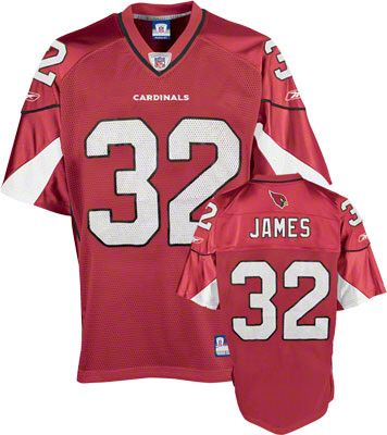 Reebok Arizona Cardinals Edgerrin James 32 Red Authentic Jersey Sale