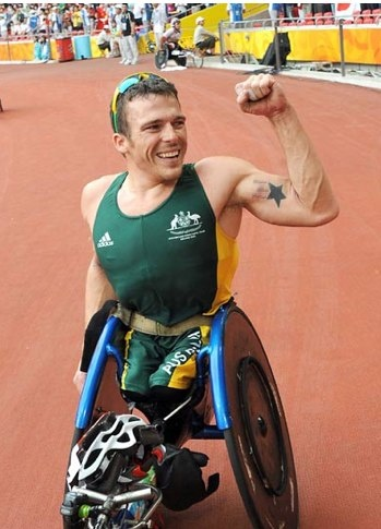 """""""You have to like it, want it and chase it! When you're pushing hard, training is tough but life is tougher.""""    Kurt Fearnley Australian Paralympic Wheelchair Champion"""