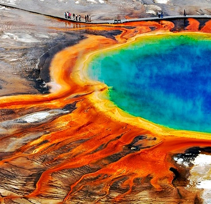 Grand Prismatic Spring - Yellowstone National Park  | Are you planning a trip to Yellowstone National Park? Take Chimani with you! We develop 100% free mobile app travel guides for national parks and other outdoor destinations. No cell connection required! Download our apps for iOS and Android at http://www.chimani.com or in the App Store or on Google Play