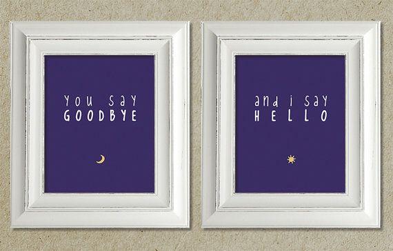 beatles art prints / hello goodbye lyrics