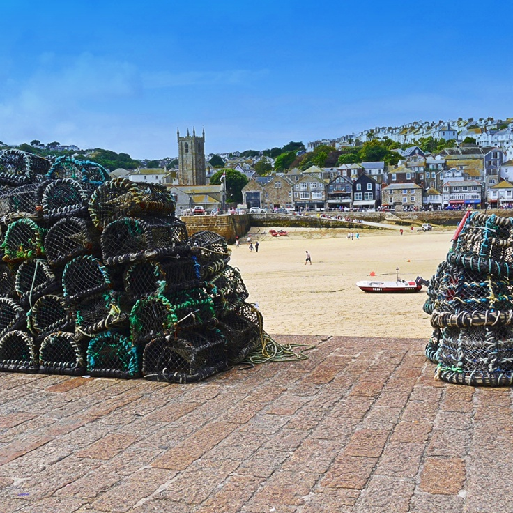 Lobster pots on Smeatons pier